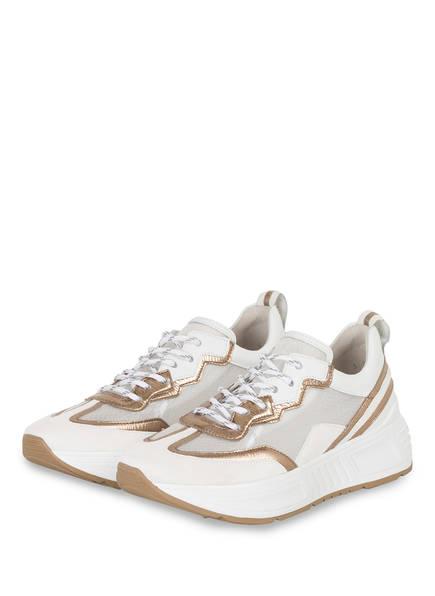 KENNEL & SCHMENGER Plateau-Sneaker MATRIX, Farbe: WEISS/ GOLD (Bild 1)