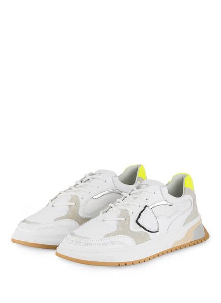 PHILIPPE MODEL Sneaker SAINT DENIS, Farbe: WEISS/ SILBER (Bild 1)