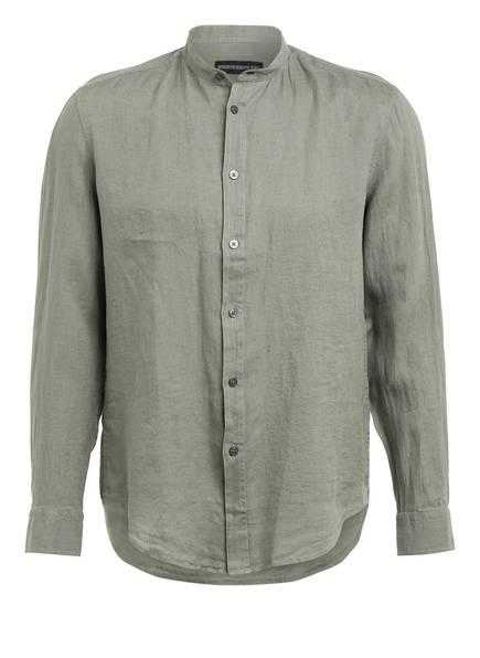 DRYKORN Leinenhemd TAROK Comfort Fit mit Stehkragen, Farbe: OLIV (Bild 1)