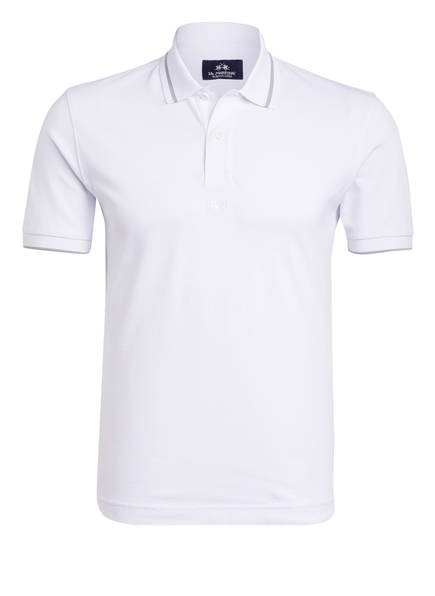 LA MARTINA Piqué-Poloshirt Regular Fit, Farbe: WEISS (Bild 1)