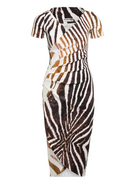 CHIARA BONI La Petite Robe Kleid AJAK in Wickeloptik, Farbe: WEISS/ BRAUN (Bild 1)