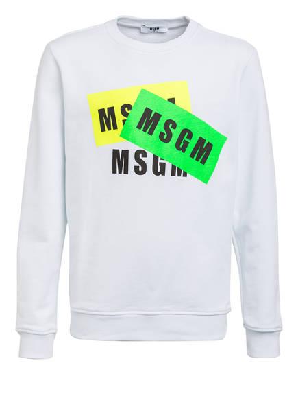 MSGM KIDS Sweatshirt, Farbe: WEISS/ NEONGELB/ GRÜN (Bild 1)