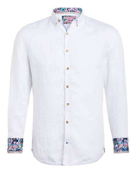 COLOURS & SONS Leinenhemd LIAM Extra Slim Fit, Farbe: WEISS (Bild 1)