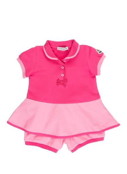 MONCLER enfant Set: Piqué-Kleid und Piqué-Shorts, Farbe: PINK (Bild 1)