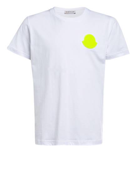 MONCLER enfant T-Shirt, Farbe: WEISS/NEONGRÜN (Bild 1)