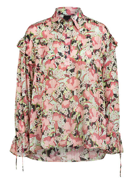 PINKO Bluse MUTTLEY mit Volantbesatz, Farbe: ROSA/ GRÜN/ SCHWARZ (Bild 1)