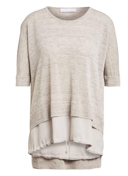 FABIANA FILIPPI Strickshirt aus Leinen, Farbe: GRAU MELIERT (Bild 1)