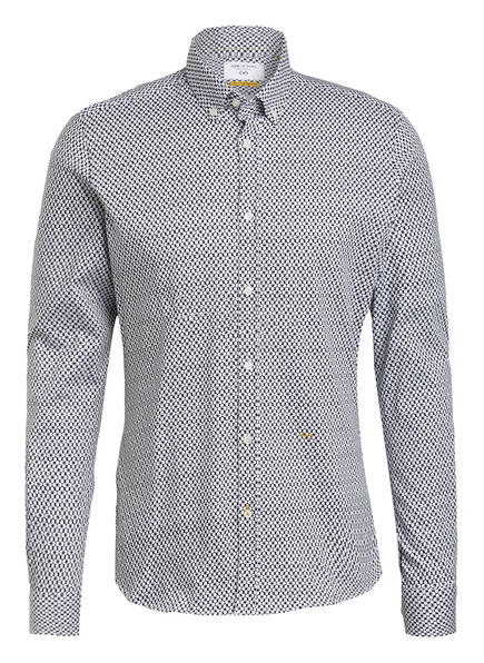 NEW IN TOWN Hemd Extra Slim Fit, Farbe: WEISS/ DUNKELBLAU (Bild 1)