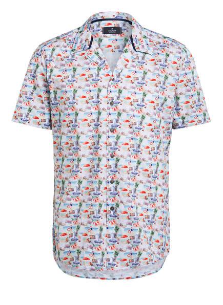 RAGMAN Halbarm-Hemd Regular Fit, Farbe: WEISS/ BLAU/ LACHS (Bild 1)