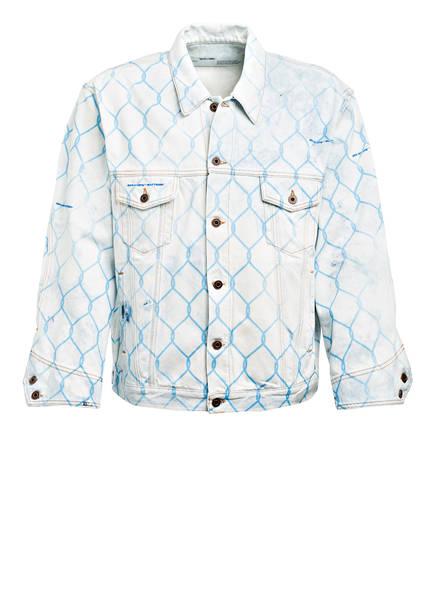 OFF-WHITE Oversized-Jeansjacke FENCE , Farbe: HELLBLAU (Bild 1)