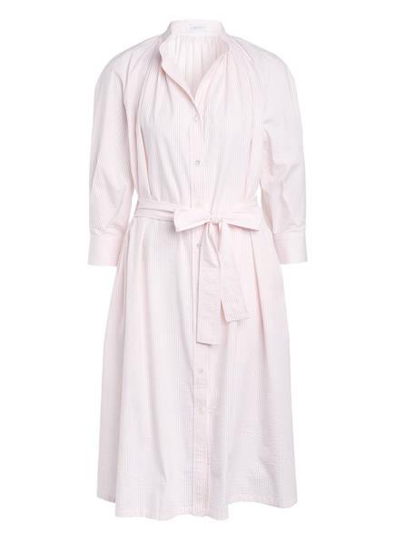 HARRIS WHARF LONDON Hemdblusenkleid, Farbe: HELLROSA/ WEISS GESTREIFT (Bild 1)