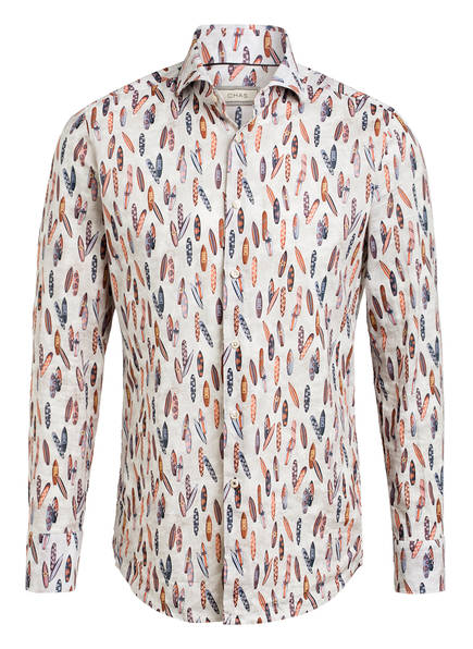 CHAS Hemd Modern Fit mit Leinen, Farbe: CREME/ BRAUN/ BLAU (Bild 1)