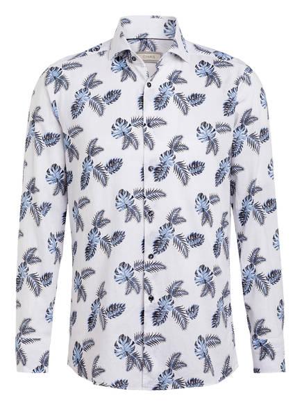 CHAS Hemd Modern Fit mit Leinen, Farbe: WEISS/ BLAU (Bild 1)