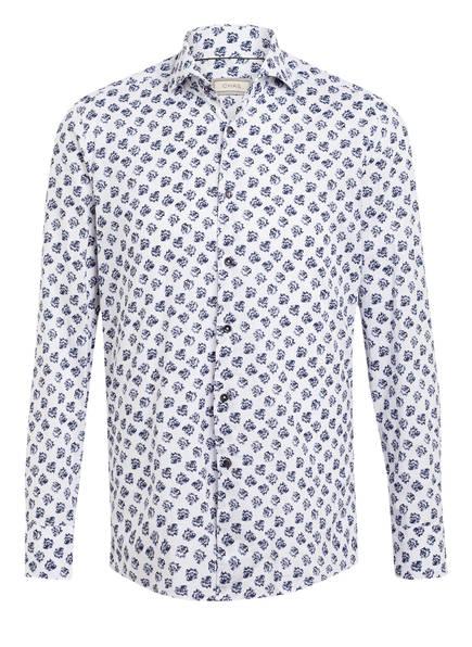 CHAS Hemd mit Leinen Regular Fit, Farbe: WEISS/ DUNKELBLAU (Bild 1)