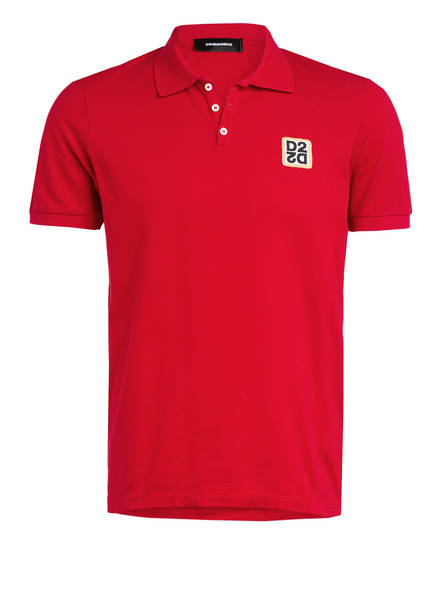 DSQUARED2 Piqué-Poloshirt Classic Fit , Farbe: ROT (Bild 1)