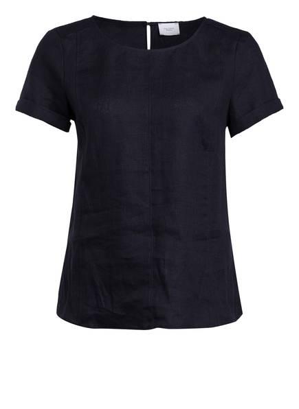 Marc O'Polo Pure Blusenshirt im Materialmix, Farbe: DUNKELBLAU (Bild 1)