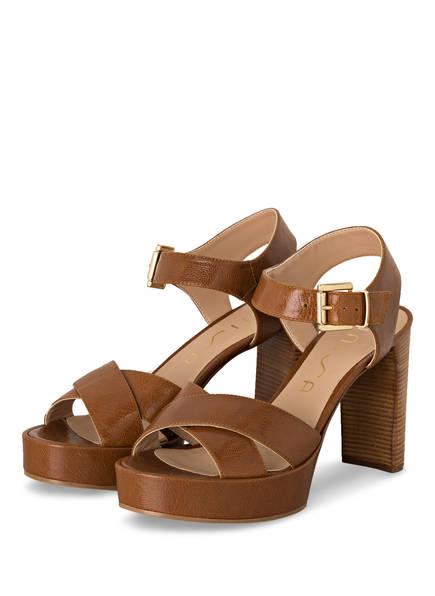 UNISA Sandaletten VIKEN, Farbe: BRAUN (Bild 1)