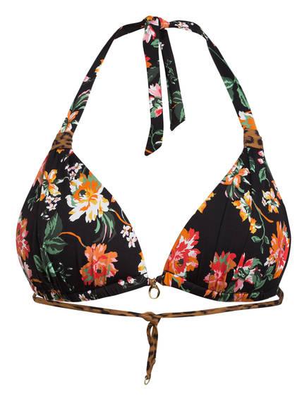 BANANA MOON COUTURE Neckholder-Bikini-Top KINO IRANJA, Farbe: SCHWARZ/ GRÜN/ ORANGE (Bild 1)