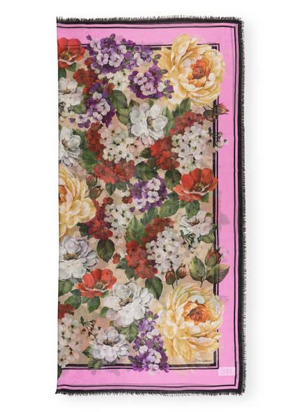 DOLCE&GABBANA Cashmere-Tuch mit Seide , Farbe: ROSA/ GRÜN/ BEIGE (Bild 1)