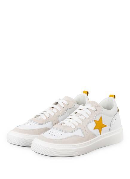 NO CLAIM Sneaker ALEX 8 , Farbe:  WEISS/ GELB (Bild 1)