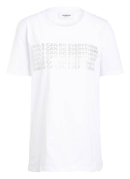 Dondup T-Shirt mit Schmucksteinbesatz, Farbe: WEISS (Bild 1)