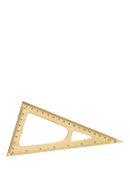 MONOGRAPH Dreikantlineal , Farbe: GOLD (Bild 1)