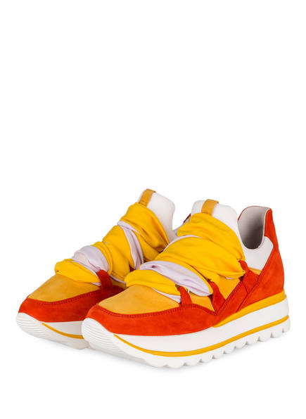 Gabor Plateau-Sneaker, Farbe: ORANGE/ DUNKELGELB (Bild 1)