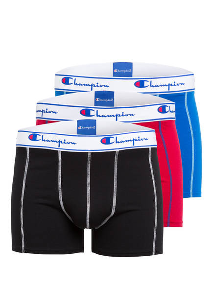 Champion 3er-Pack Boxershorts, Farbe: ROT/ SCHWARZ/ BLAU (Bild 1)