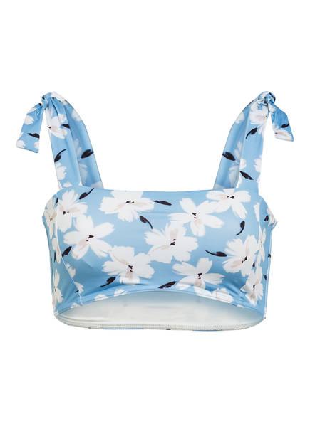 BANANA MOON Bustier-Bikini-Top PACKO ISALIS, Farbe: HELLBLAU/ ECRU (Bild 1)