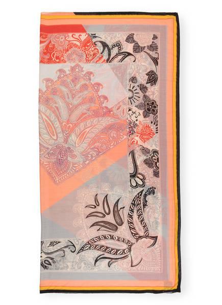 ETRO Cashmere-Tuch mit Seide, Farbe: HELLGRAU/ LACHS/ ROT (Bild 1)