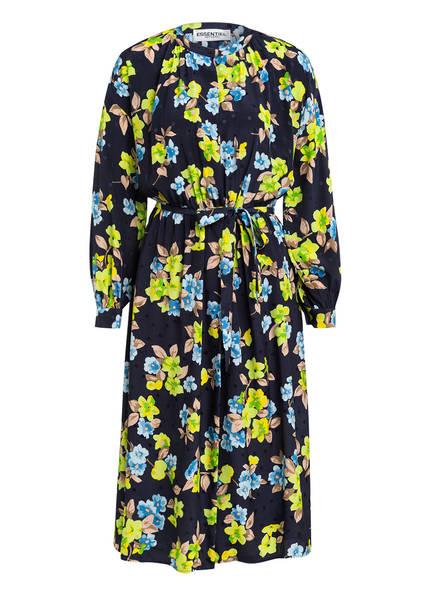 ESSENTIEL ANTWERP Wickelkleid aus Seide, Farbe: DUNKELBLAU/ GELB/ BEIGE (Bild 1)