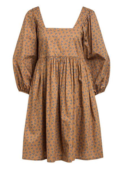 JUST FEMALE Kleid MERLE mit 3/4-Arm, Farbe: HELLBRAUN/ HELLBLAU (Bild 1)