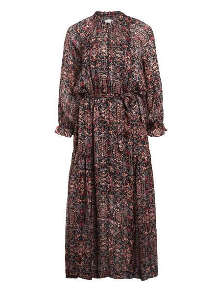 SECOND FEMALE Kleid SIGNE mit Glitzergarn, Farbe: SCHWARZ/ HELLORANGE/ DUNKELORANGE (Bild 1)