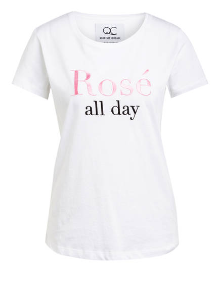 QUANTUM COURAGE T-Shirt ROSÉ ALL DAY, Farbe: WEISS (Bild 1)
