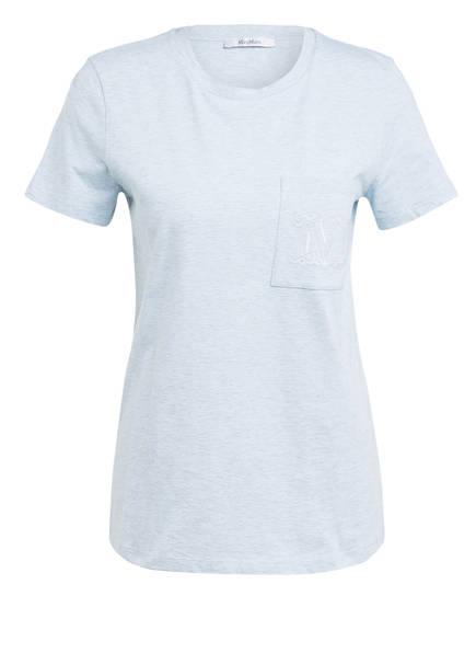 Max Mara T-Shirt, Farbe: BLAUGRAU MELIERT (Bild 1)