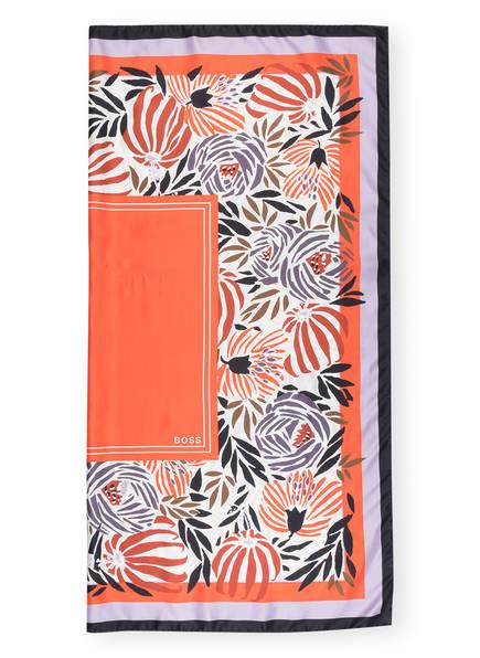 BOSS Tuch LUISINA aus Seide , Farbe: ORANGE/ CREME/ LILA (Bild 1)