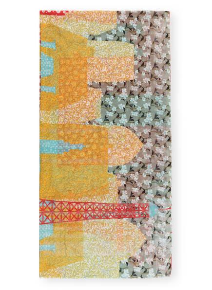 STORI ATIPIC Schal DEBBIE, Farbe: GELB/ ROT/ HELLGRAU (Bild 1)