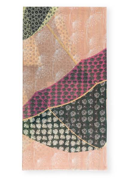 STORI ATIPIC Leinenschal MONICA, Farbe: ROSÈ/ PINK/ HELLGRÜN (Bild 1)