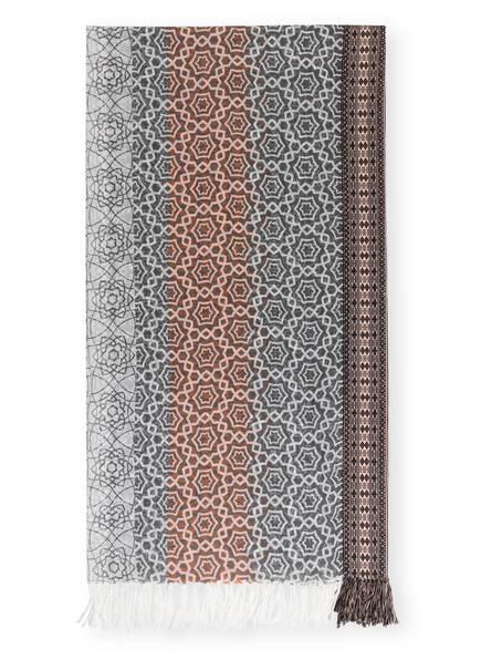 STORI ATIPIC Schal ALDO, Farbe: WEISS/ GRAU/ ORANGE (Bild 1)