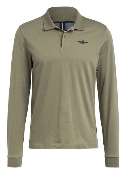 AERONAUTICA MILITARE Piqué-Poloshirt, Farbe: OLIV (Bild 1)