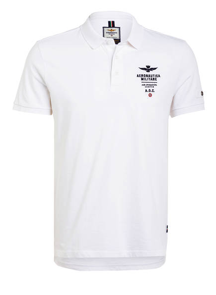 AERONAUTICA MILITARE Jersey-Poloshirt, Farbe: WEISS (Bild 1)