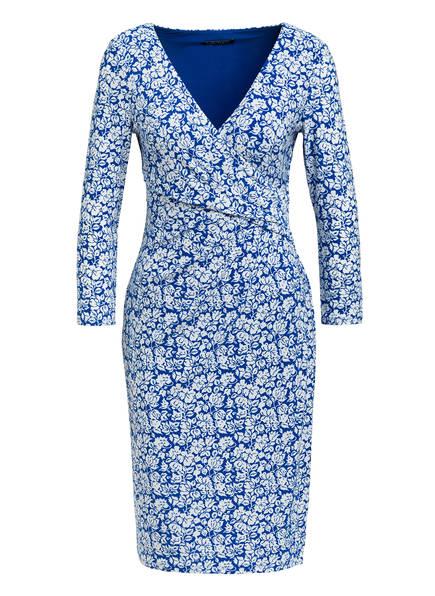LAUREN RALPH LAUREN Kleid CLEORA in Wickeloptik mit 3/4-Arm , Farbe: BLAU/ WEISS (Bild 1)