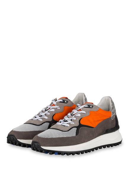 Floris van Bommel Sneaker, Farbe: GRAU/ ORANGE/ WEISS (Bild 1)