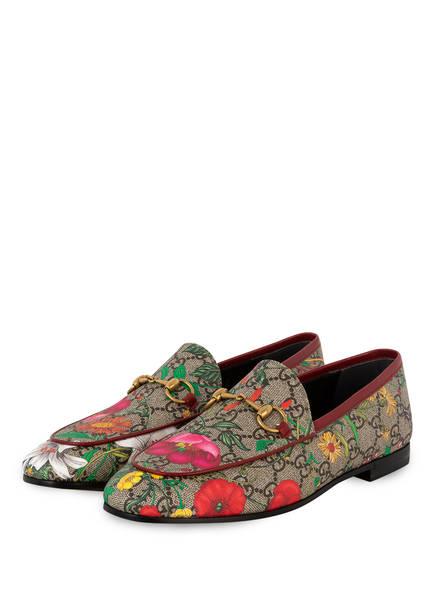 GUCCI Loafer GG SUPREME FLORA, Farbe: BEIGE/EBONY/MULTI/ROSSO (Bild 1)