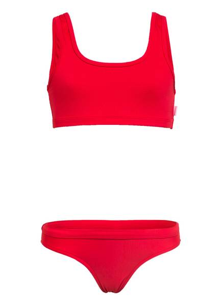 SEAFOLLY Bustier-Bikini SUMMER ESSENTIAL mit wasseraktivem Print , Farbe: ROT (Bild 1)
