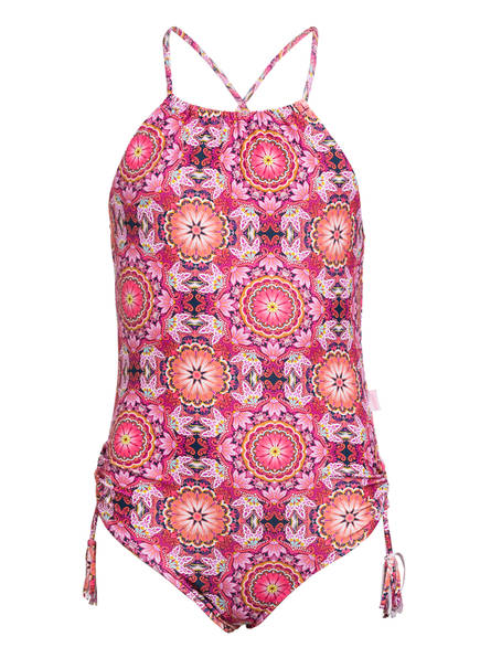 SEAFOLLY High-Neck-Badeanzug PAISLEY PARK, Farbe: LILA/ ORANGE/ PINK (Bild 1)