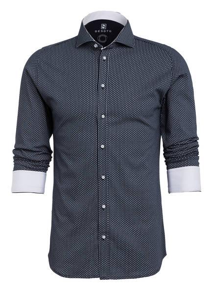 DESOTO Hemd NEW HAI Slim Fit, Farbe: DUNKELBLAU/ HELLBLAU/ WEISS (Bild 1)