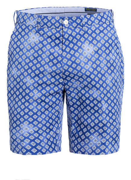 POLO GOLF RALPH LAUREN Shorts Tailored Fit, Farbe: BLAU/ WEISS (Bild 1)