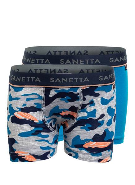 Sanetta 2er-Pack Boxershorts, Farbe: HELLBLAU/ DUNKELBLAU/ GRAU (Bild 1)