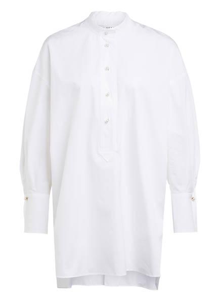 EVA MANN Blusenshirt WINSTON mit Perlenbesatz, Farbe: WEISS (Bild 1)
